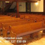 Bangku Gereja Jati Modern Jepara