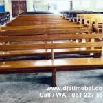 Bangku Gereja Kisten Katolik Kayu Jati