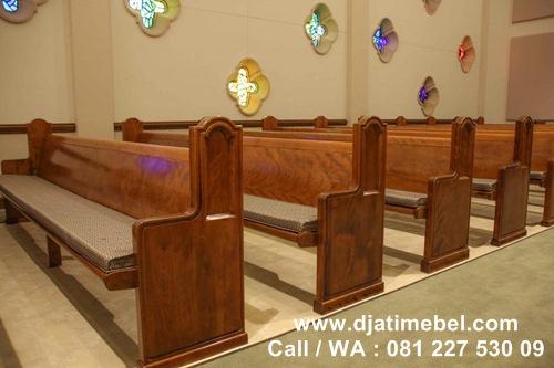 Bangku Gereja Minimalis Jati Modern