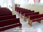 Bangku Kursi Gereja Jati Minimalis Mewah