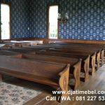 Bangku Kursi Gereja Kristen Jati Mewah