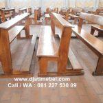 Bangku Kursi Gereja Minimalis Jati Klasik