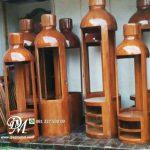 Lemari Botol Hias Minimalis Kayu Jati