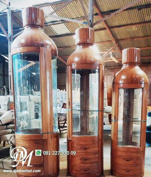 Lemari Botol Minimalis Jati Harga Murah