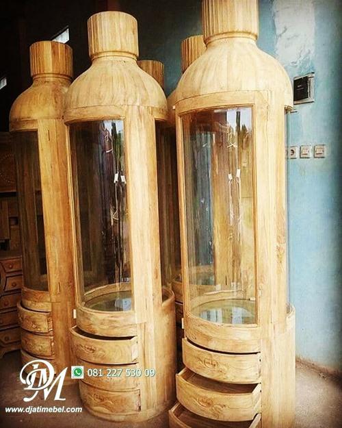 Lemari Model Botol Jati Minimalis