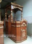 Mimbar Khutbah Masjid Jati Ukir Emas Natural