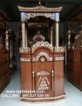 Mimbar Masjid Kubah Emas Jati Modern Klasik