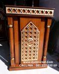 Podium Khutbah Masjid Ukir Jati Minimalis