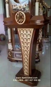 Podium Ceramah Kayu Jati Ukir