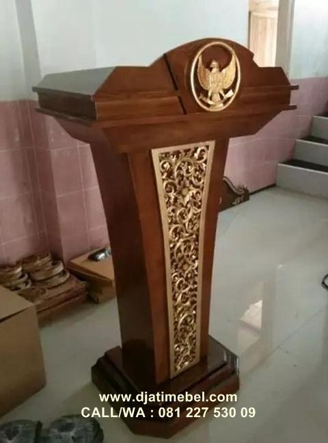Podium Presiden Ukir Garuda Minimalis Jepara